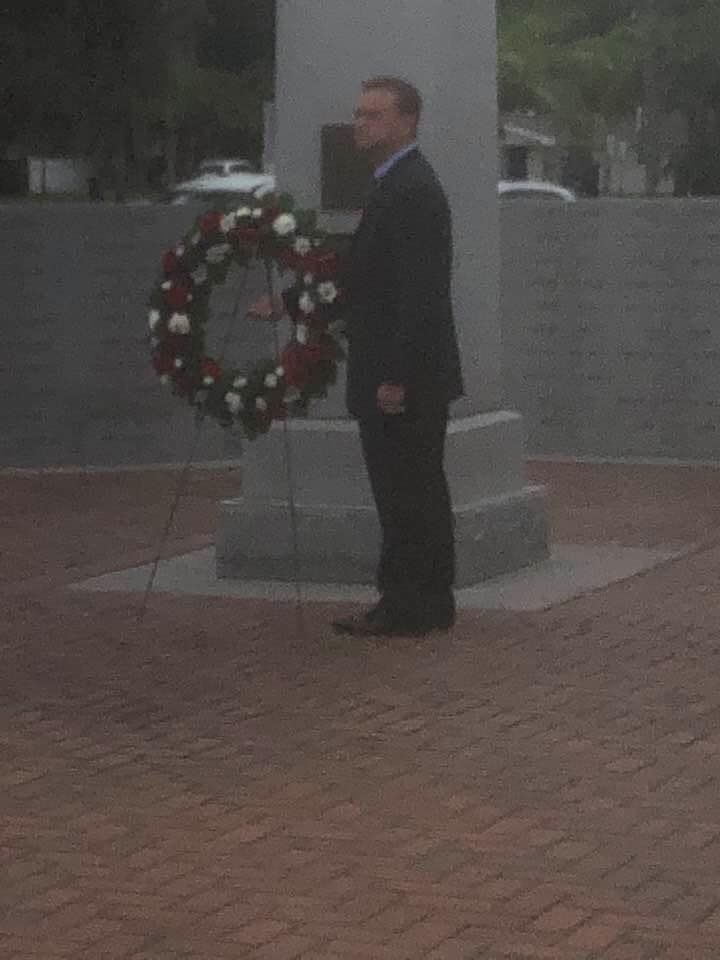 Thank you Mr. Mayor, Eric Seidel, for honoring those who gave the ultimate sacrifice.