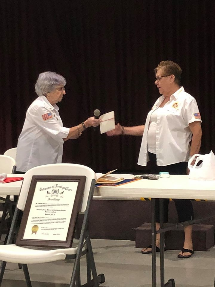 A starter gift from District 21 Auxiliary